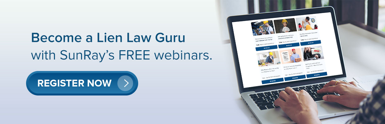 SunRay Lien Law Webinars