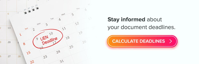 document deadlines