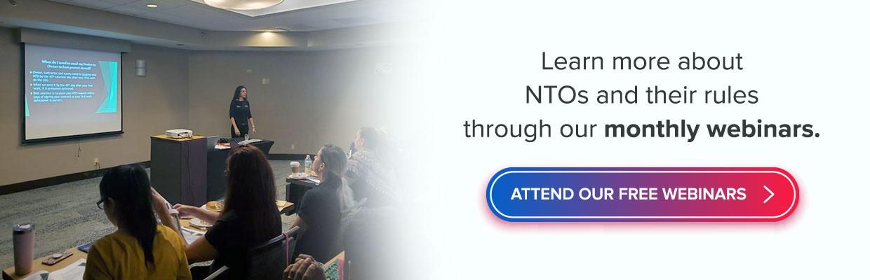 NTOs and Webinars