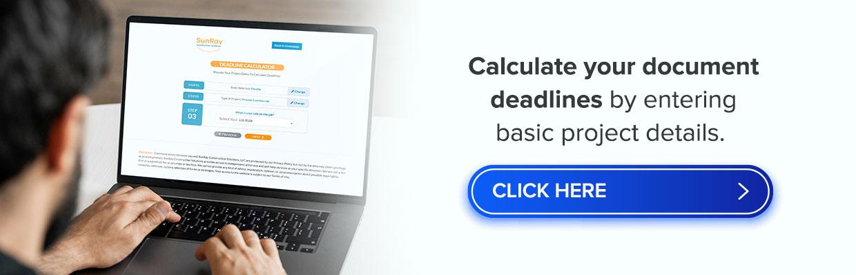 construction document deadlines