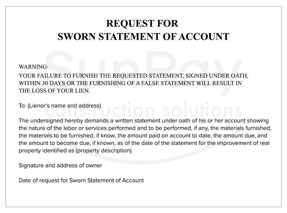 sworn statement