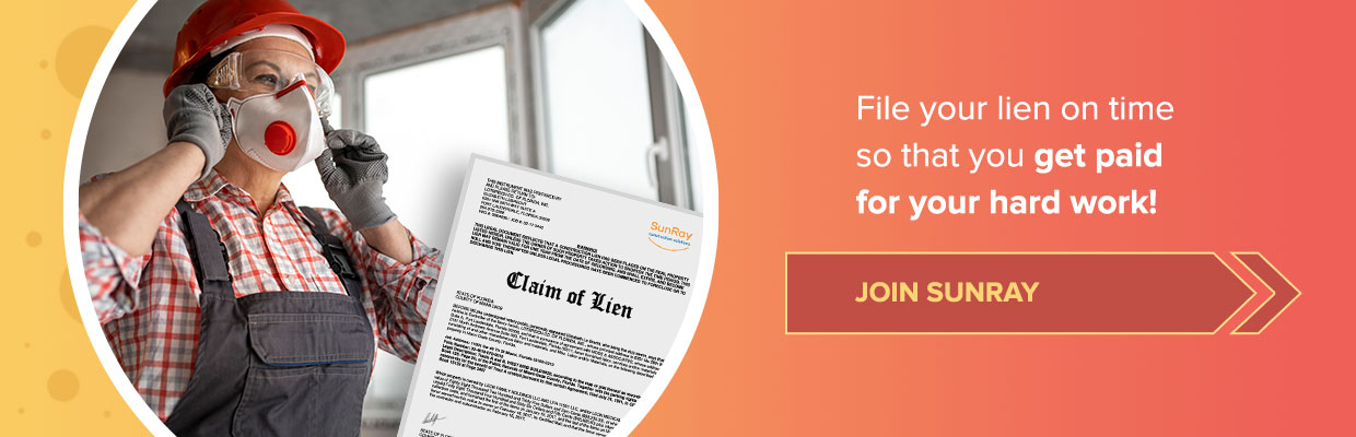 file your lien on time