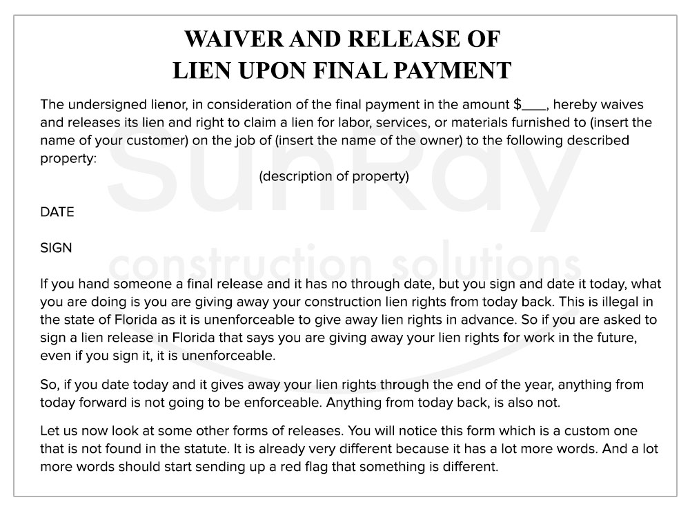 WAIVER-AND-RELEASE-of Lien upon final payment