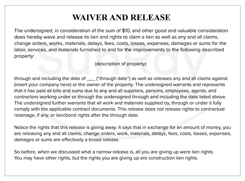 WAIVER-AND-RELEASE