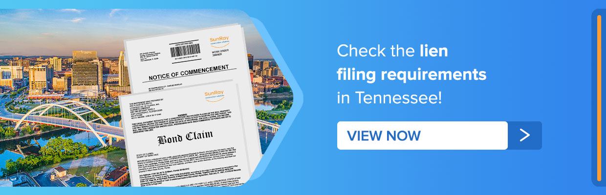 Lien filing requirements Tennessee