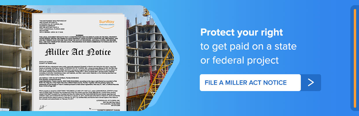 file a miller act notice Tennessee