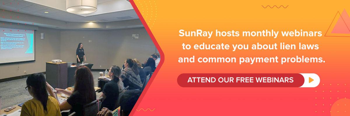 SunRay Webinars