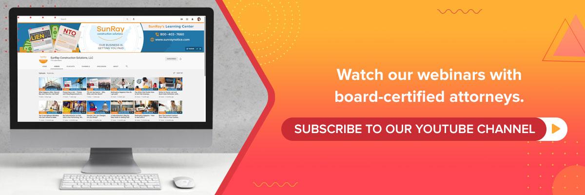 Watch our Webinars SunRay
