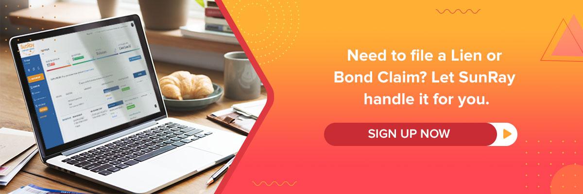file a lien or bond claim deadlines