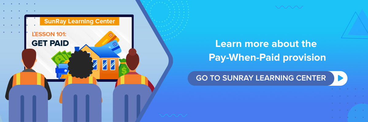 pay when paid provision