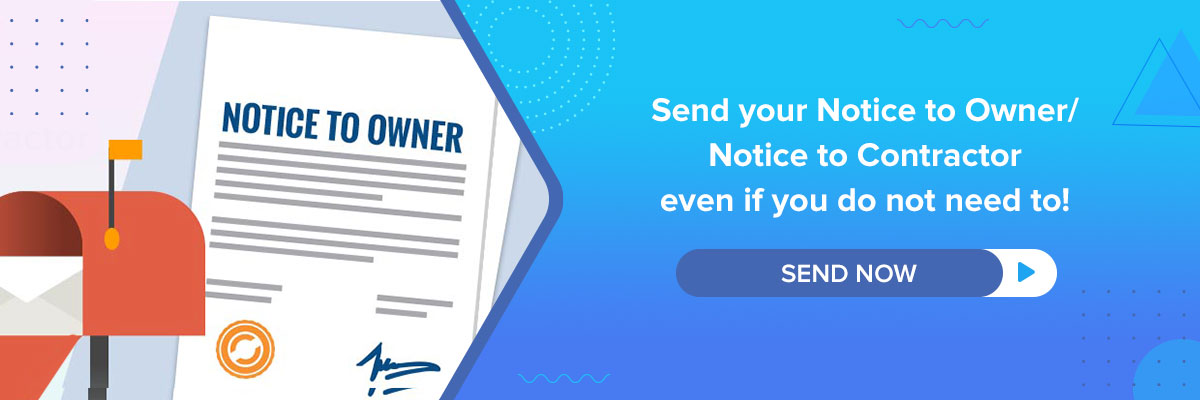 Notice to Owner, Notice to Contractor