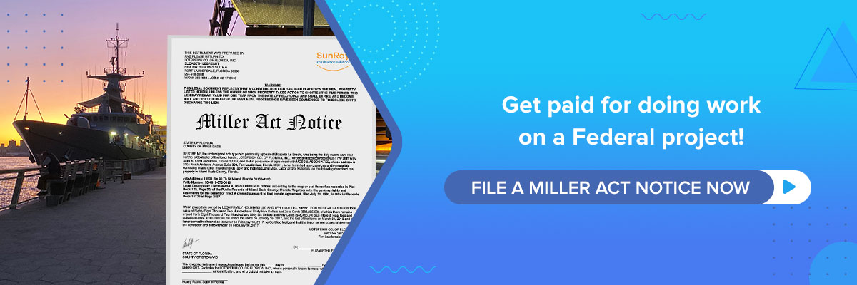 file a miller act notice