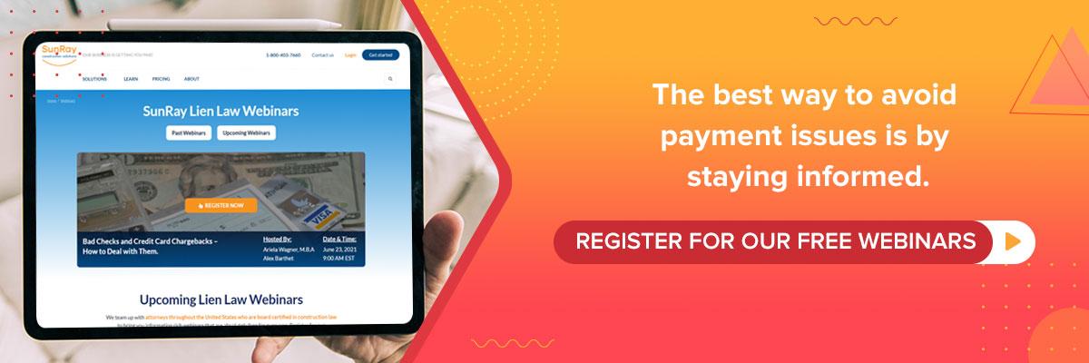 register for free webinars