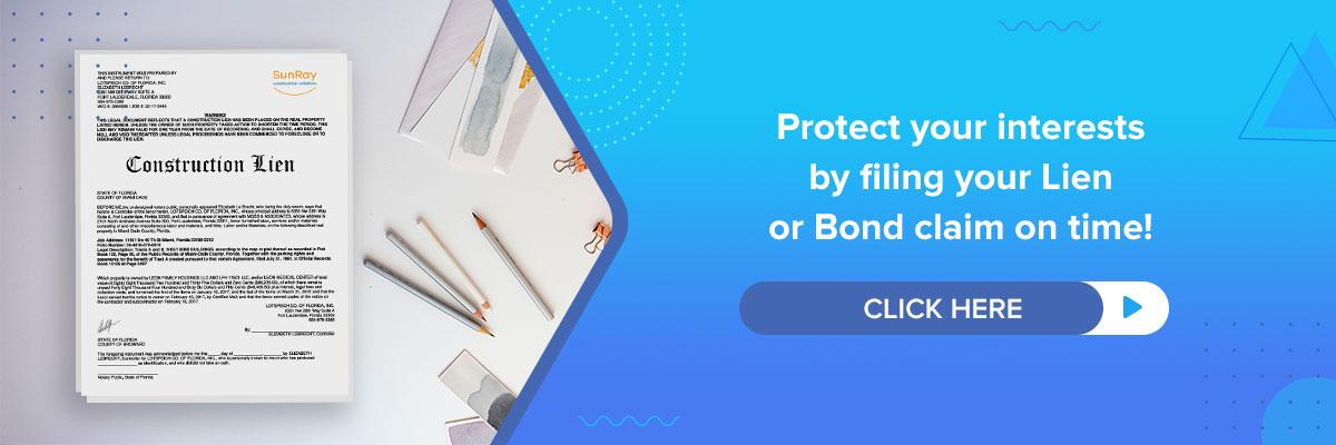 claim of bond & lien