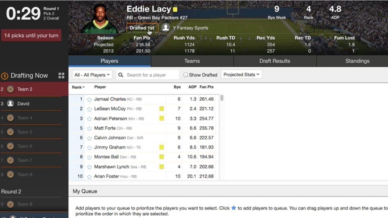 Yahoo Fantasy Sports API