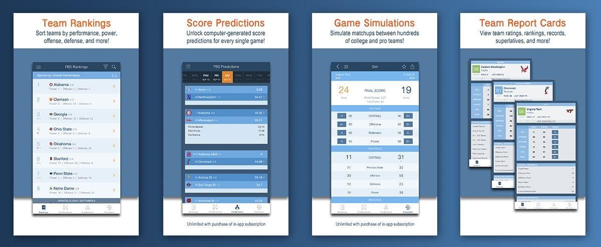 Versus sports simulator API