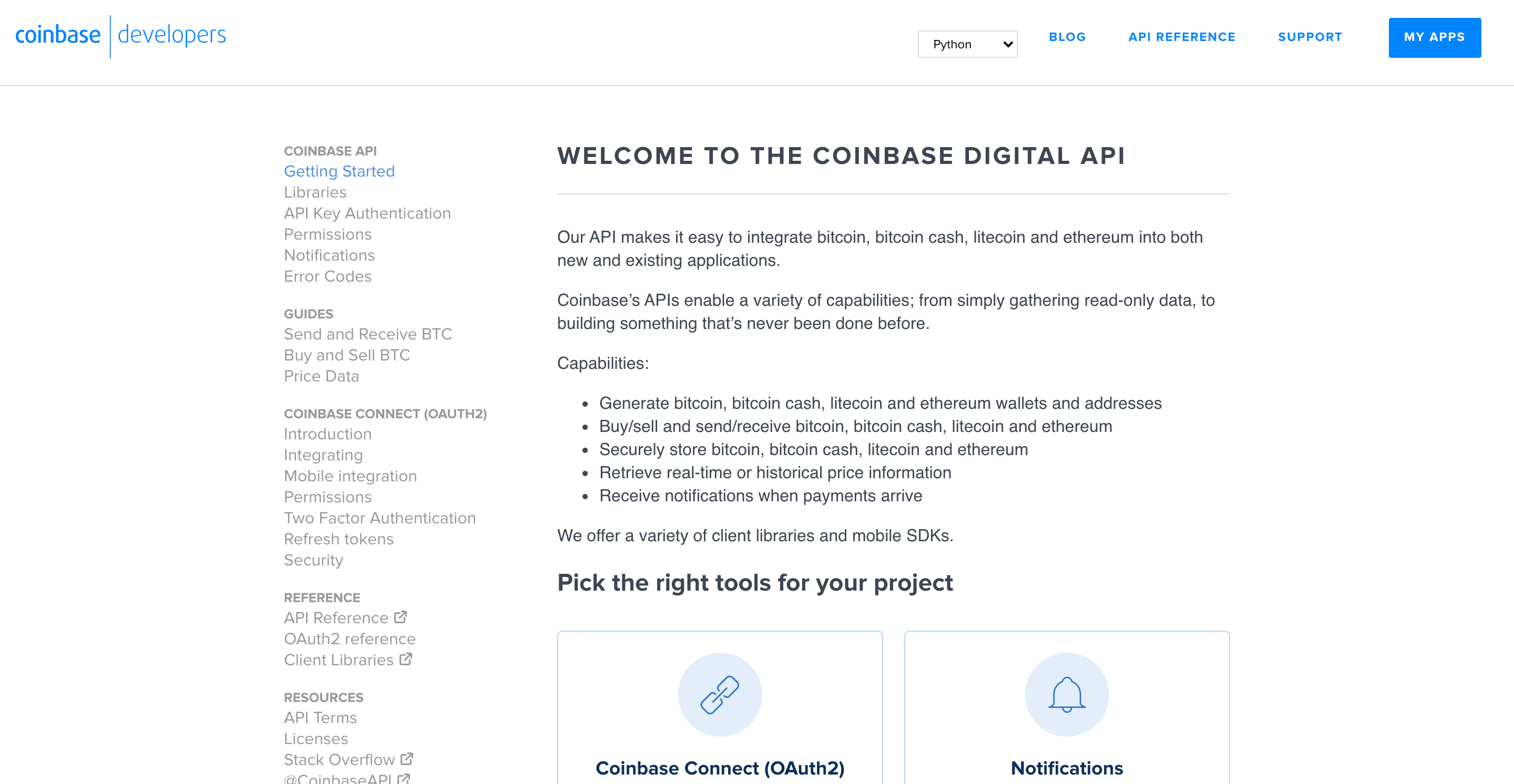 Coinbase API for trading calls or price monitoring