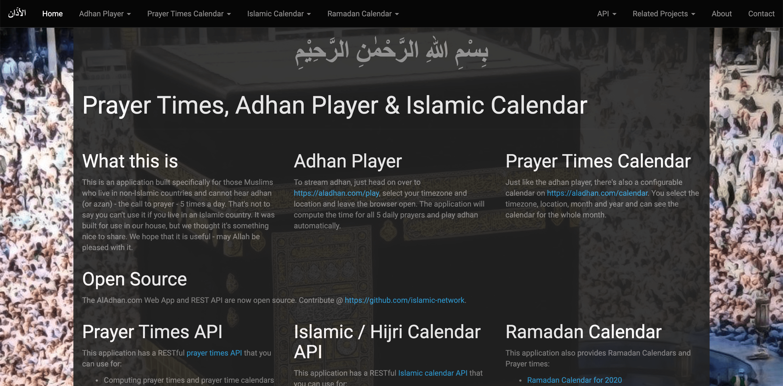 PrayerTimes API for prayer times, adhan player & islamic calendar