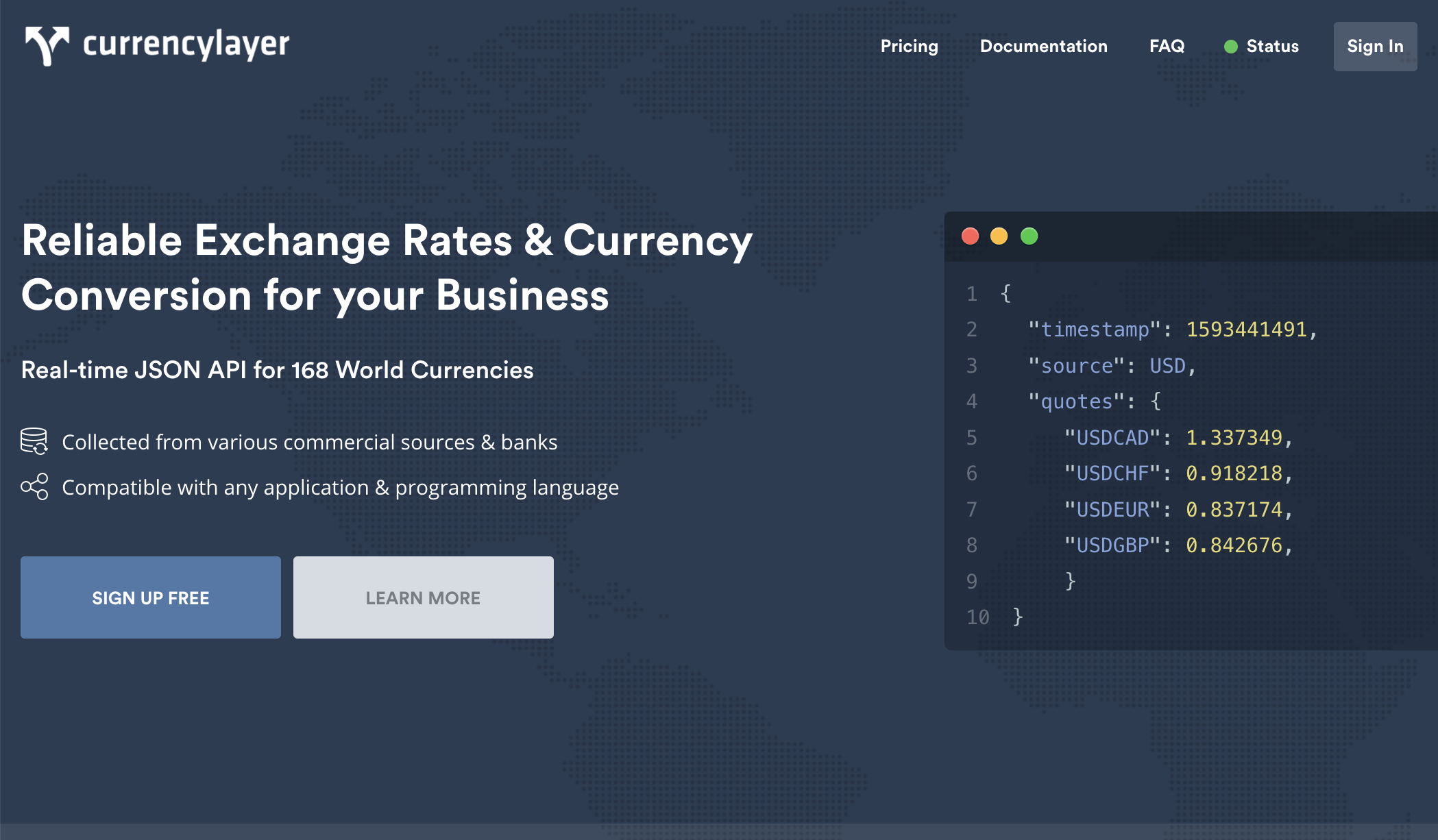 Currencylayer exchange rate and currency conversion API