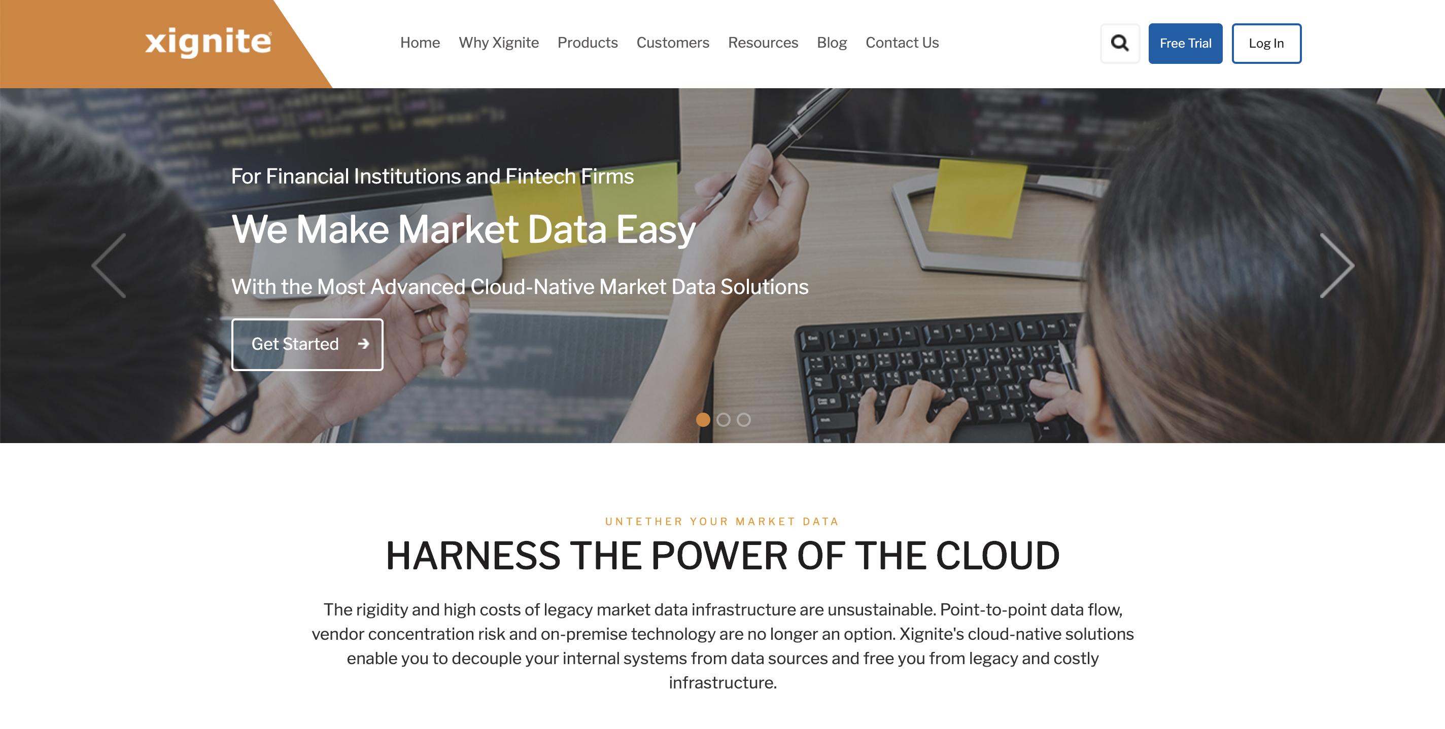 Xignite market data API