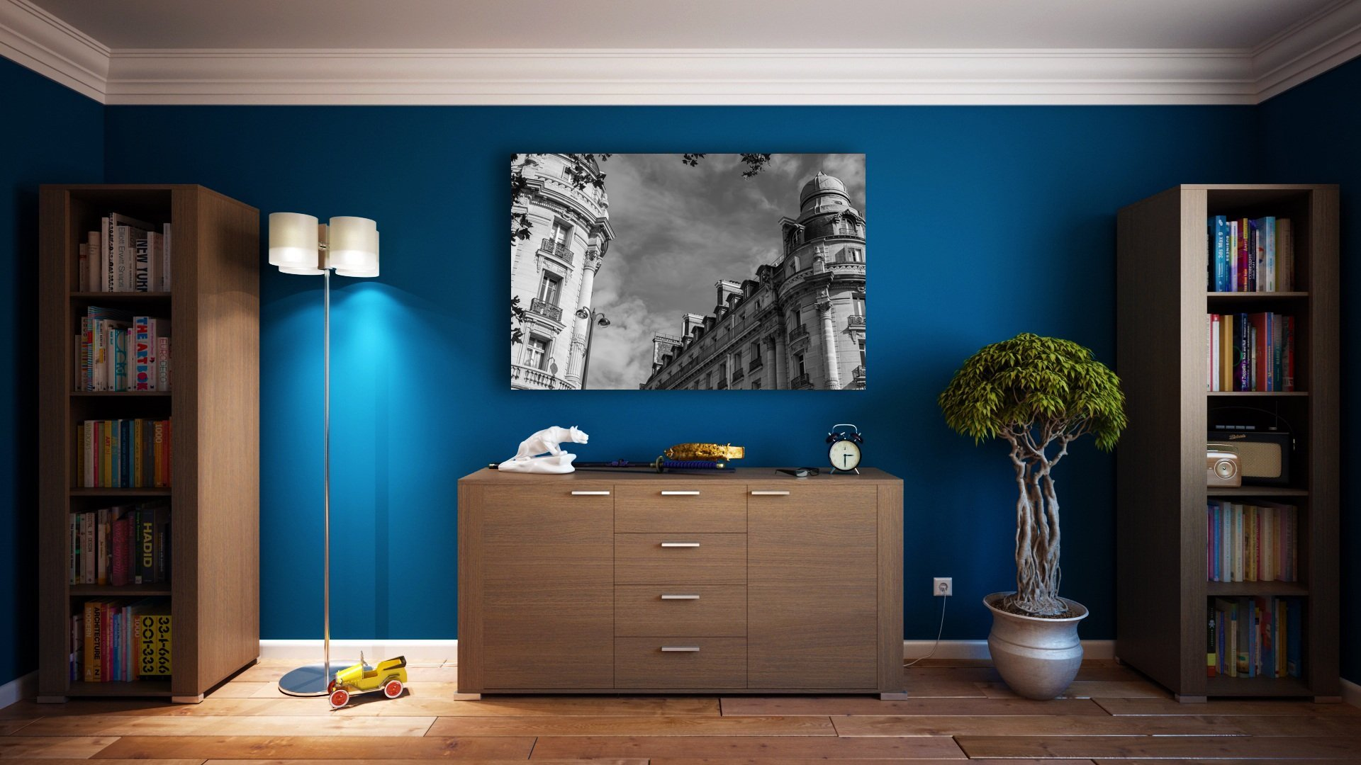 Ambiance chic et chaleureuse - Impression sur toile étirée Chic Parisien Photo-to-go