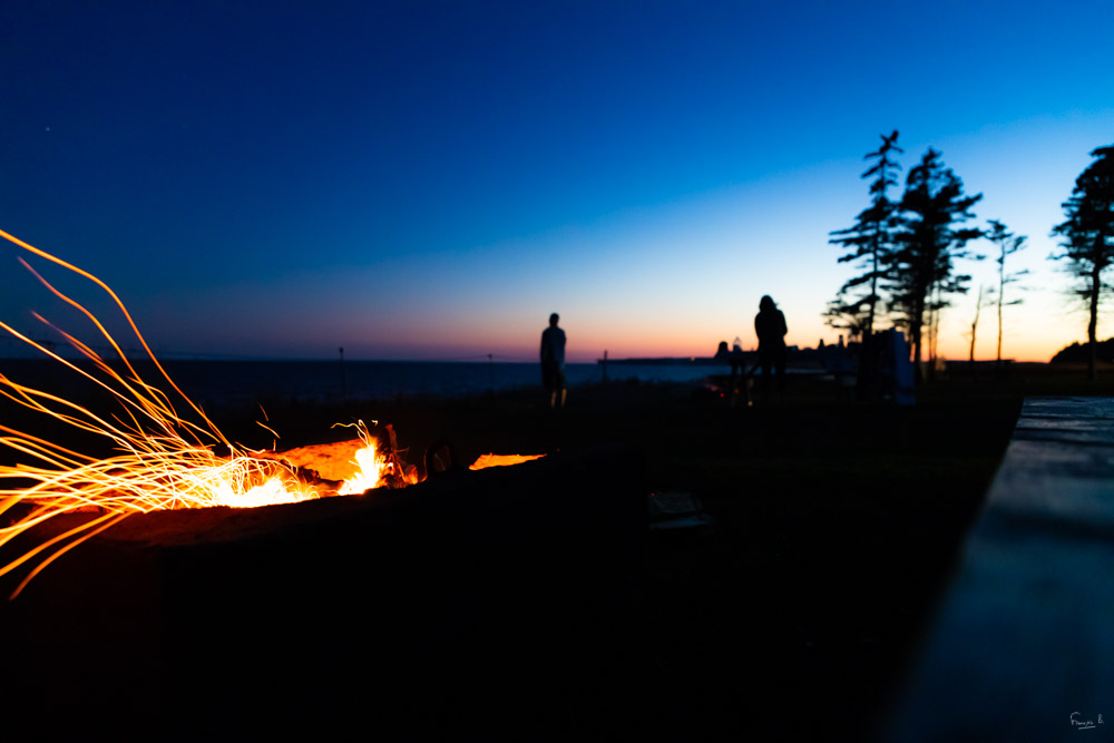 Night Fire - Prince Edward Island (Canada) - François B. for Photo-to-go