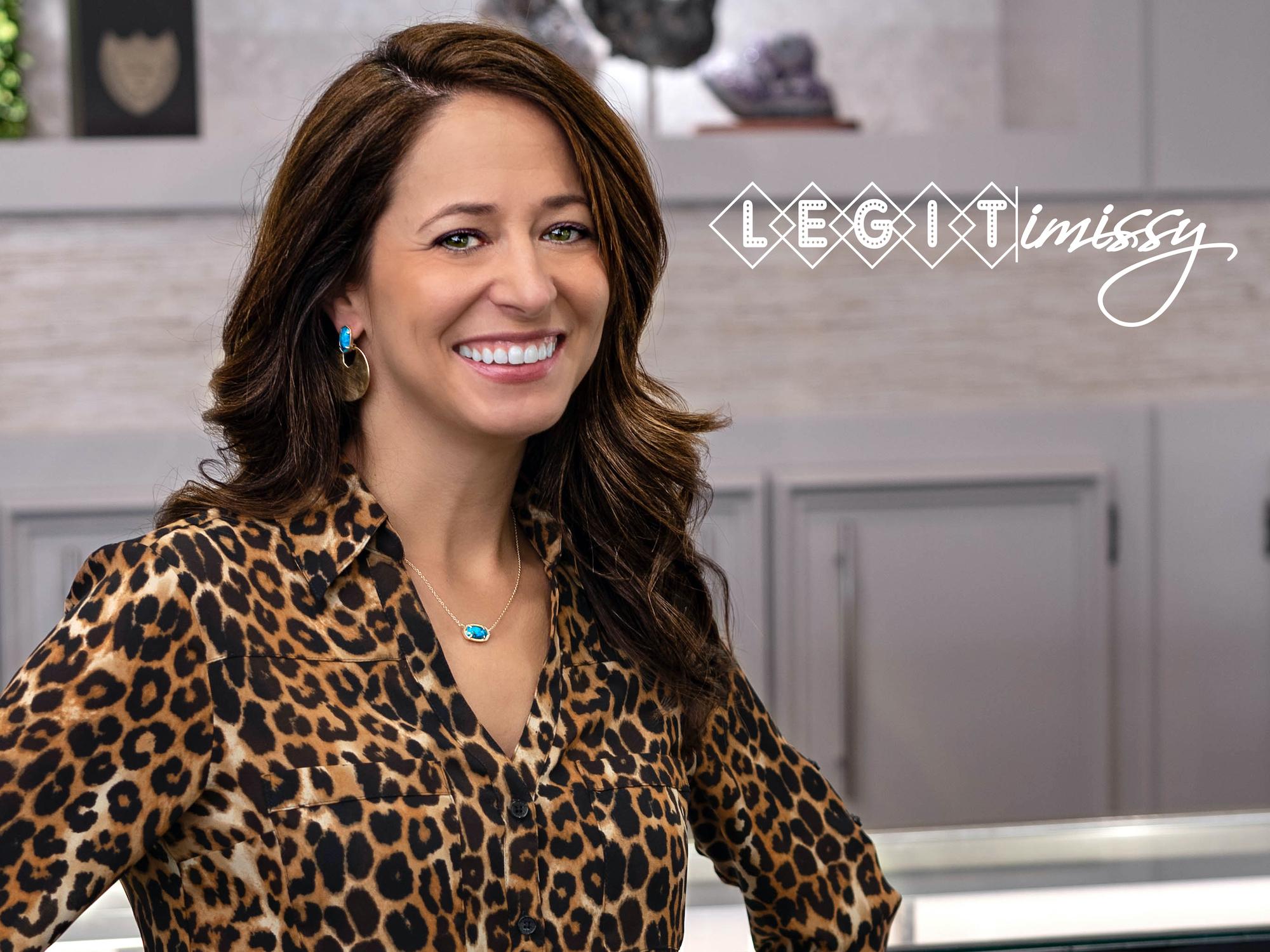 Headshot of manager Missy next to the LegitiMissy logo