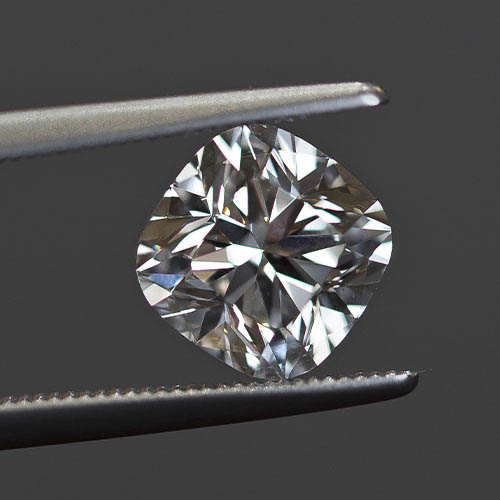 Cut of a loose cushion diamond from Jack Lewis Jewelers in Bloomington, IL
