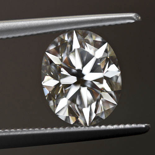 Cut of a loose oval diamond from Jack Lewis Jewelers in Bloomington, IL