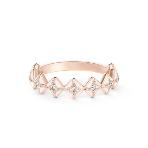Diamond ring set in rose gold from Debeers Forevermark