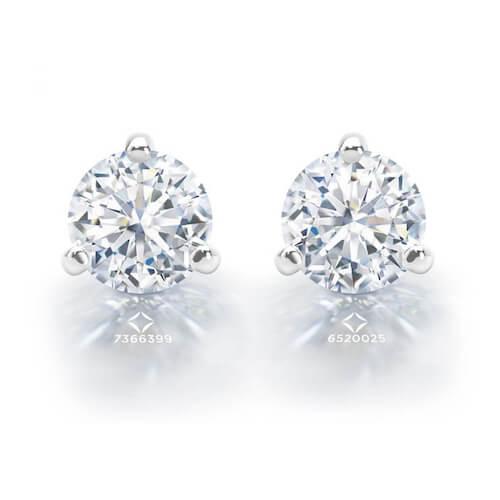 pair of diamond stud earrings from Debeers Forevermark