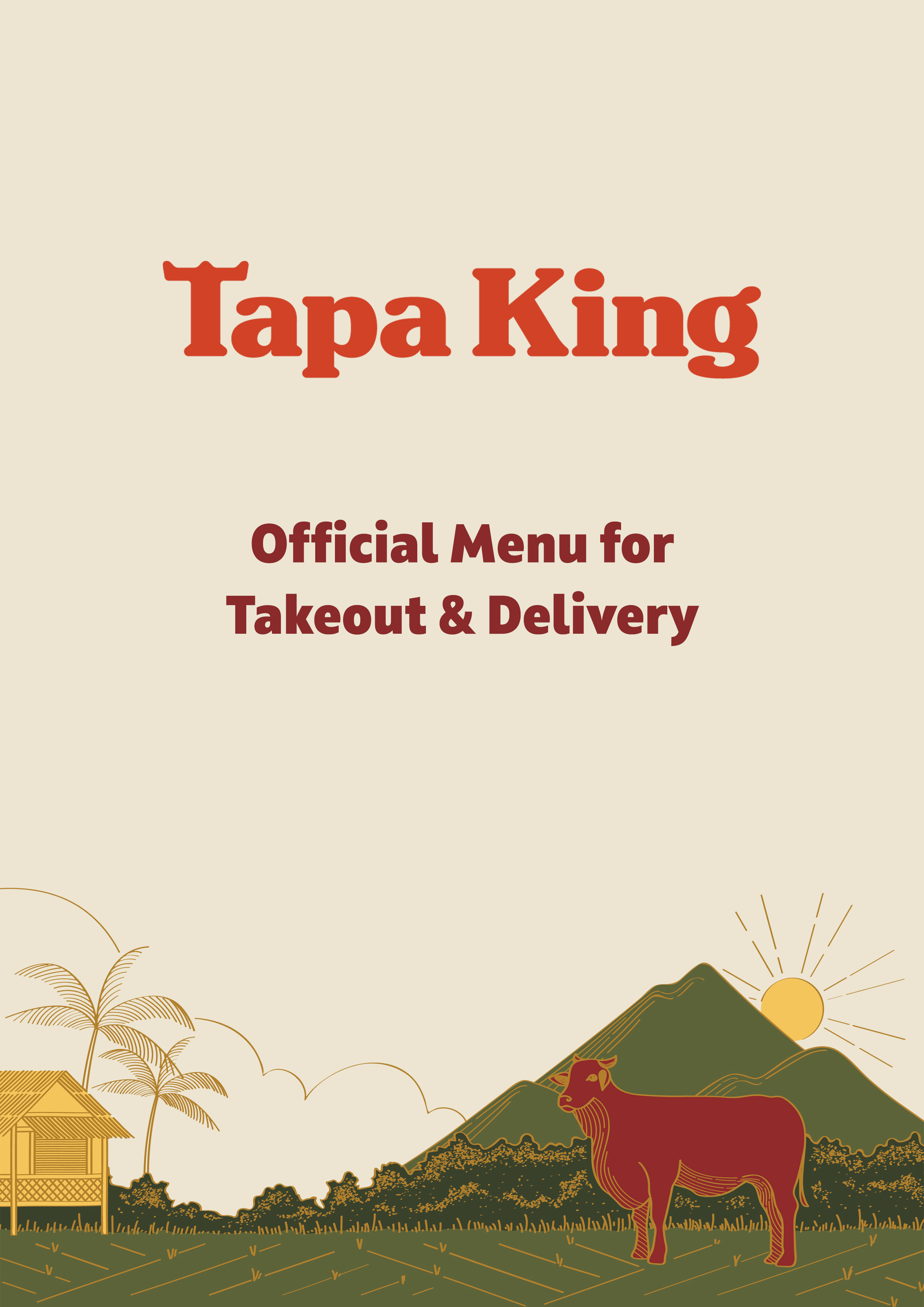 Takeout & Delivery Menu Cover