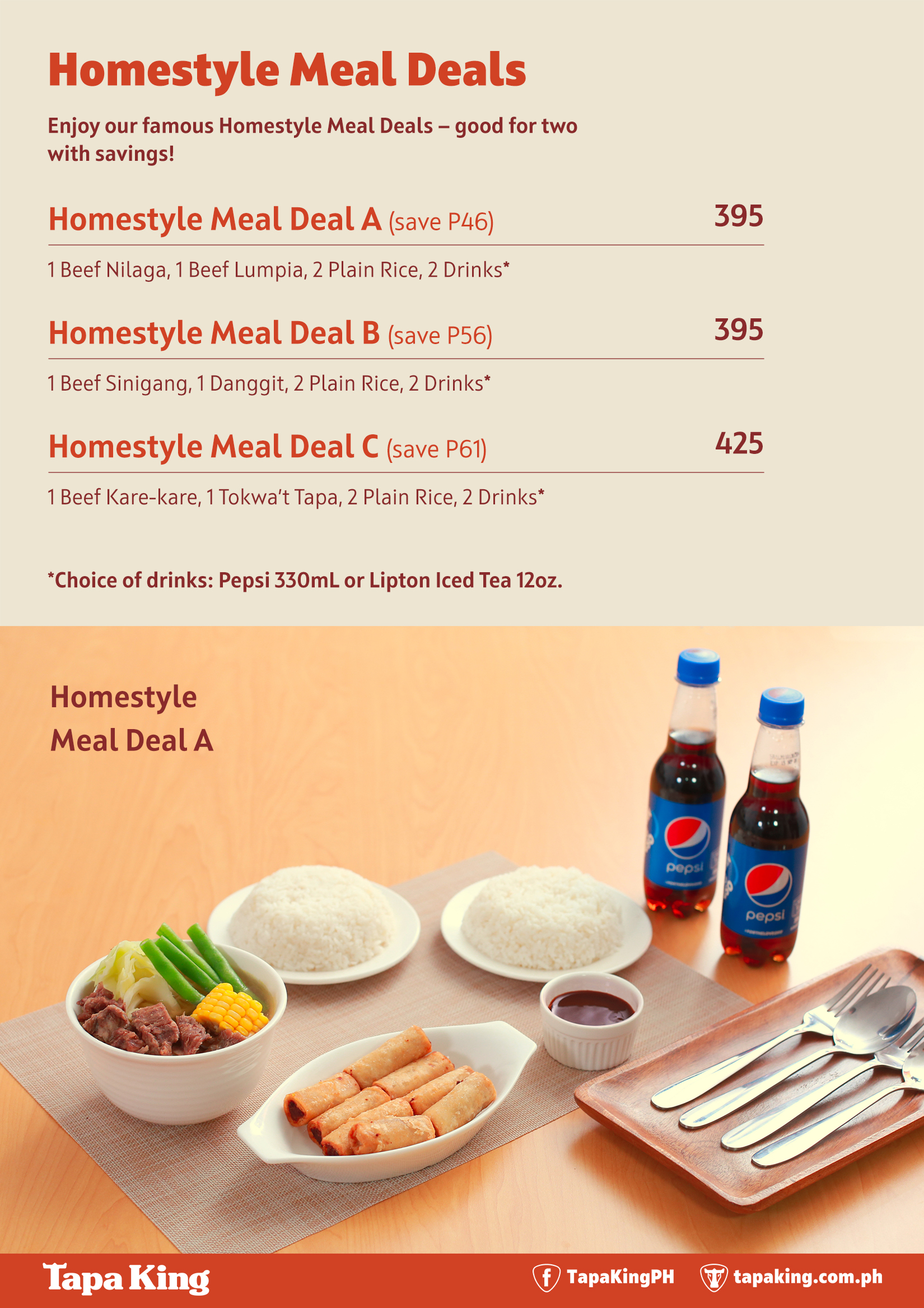 Homestyle Meal Deals