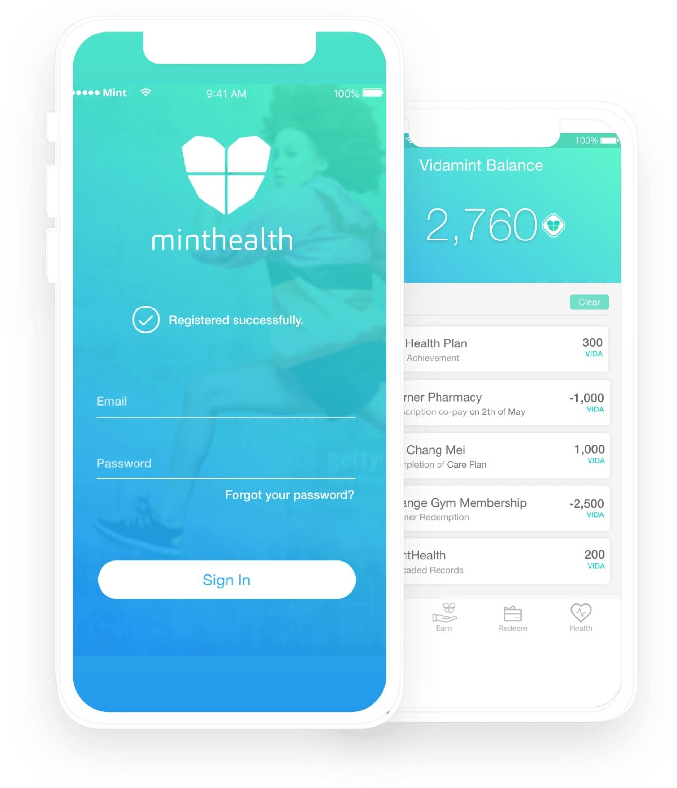 mintHealth Mobile Presentation Image