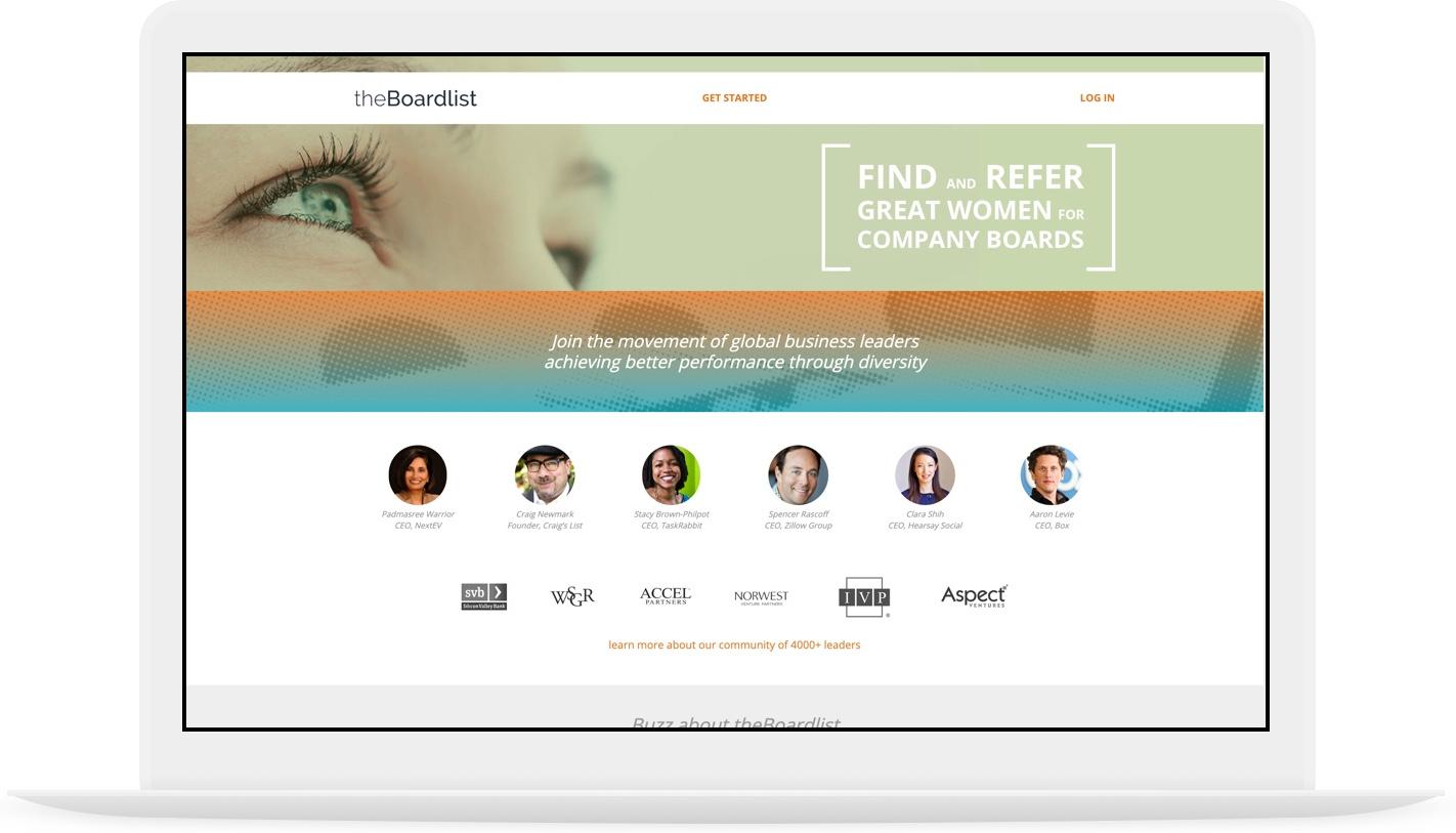 theBoardlist website view
