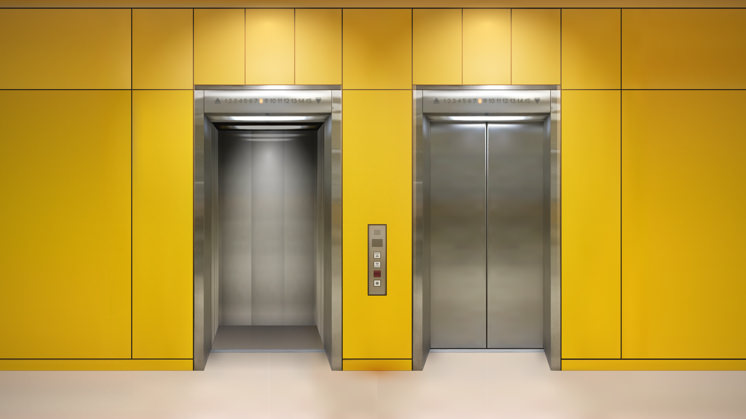touchless elevator workspace