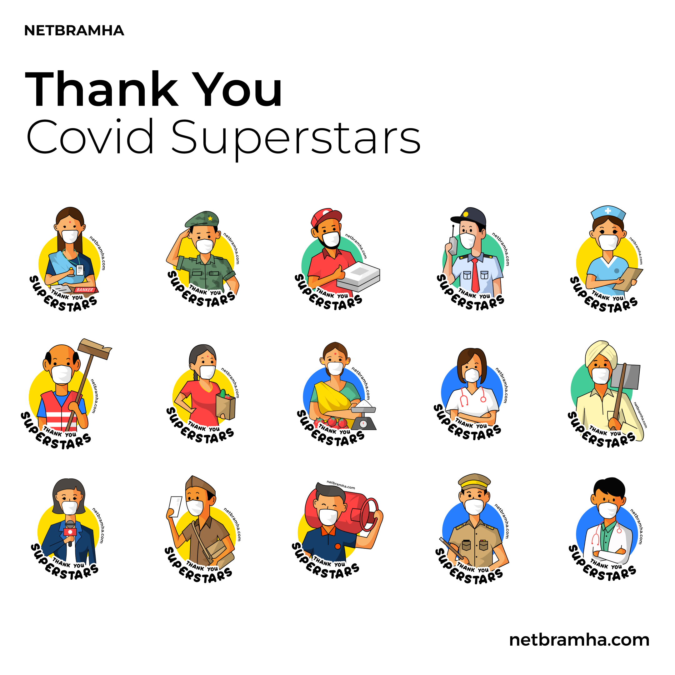 NetBramha says thanks to the COVID Superheroes with a unique creation