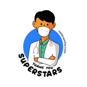 covid sticker doctor