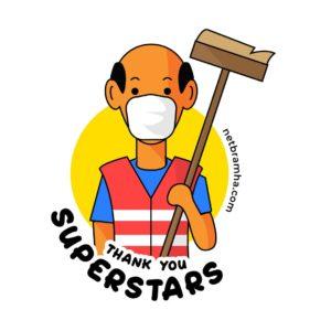 covid superhero cleaners