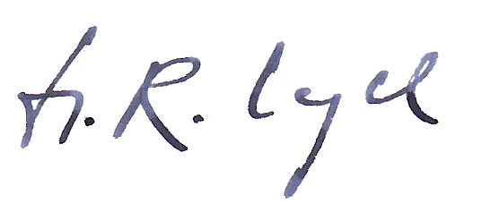 Unterschrift Hans-Rainer Vogel