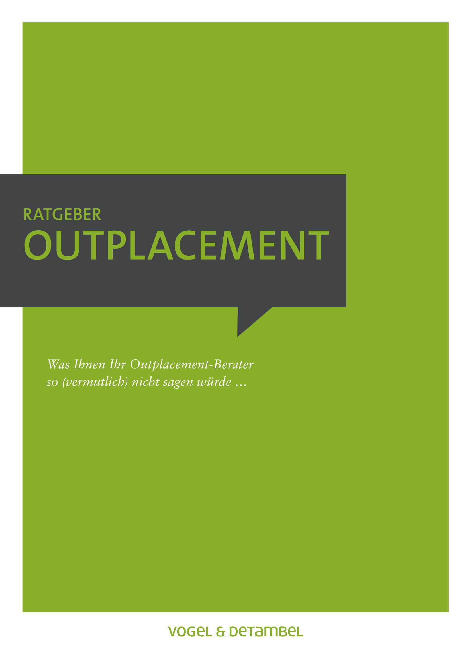 Outplacement Ratgeber Vogel & Detambel