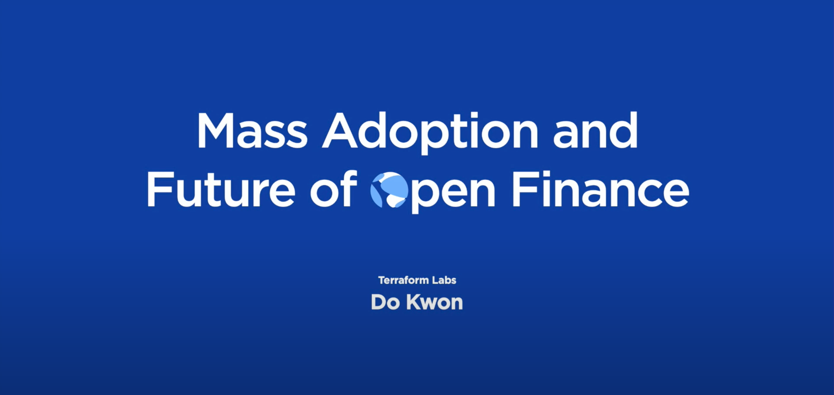 Mass Adoption and the Future of Open Finance