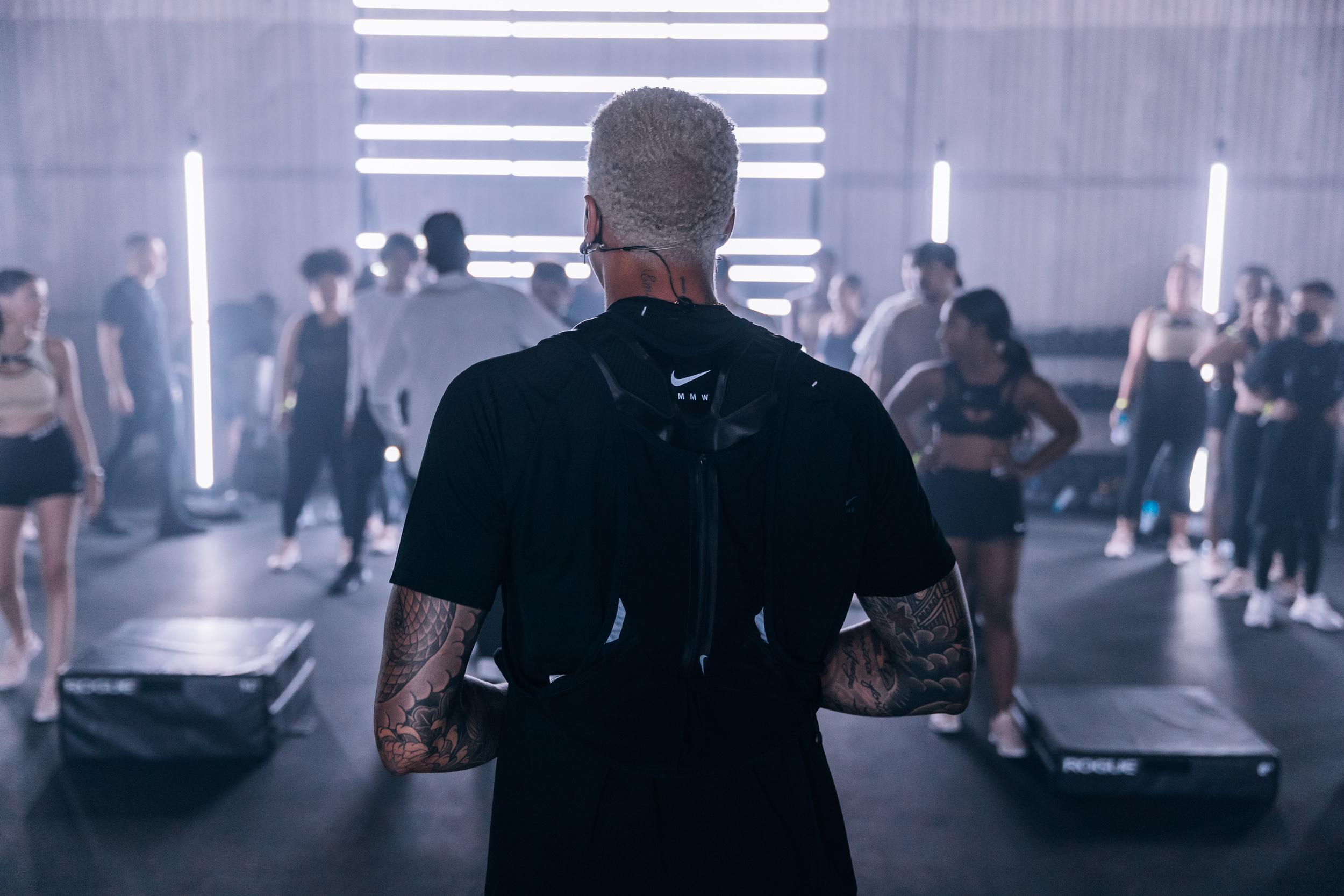 Miles at a futuristic Nike Event