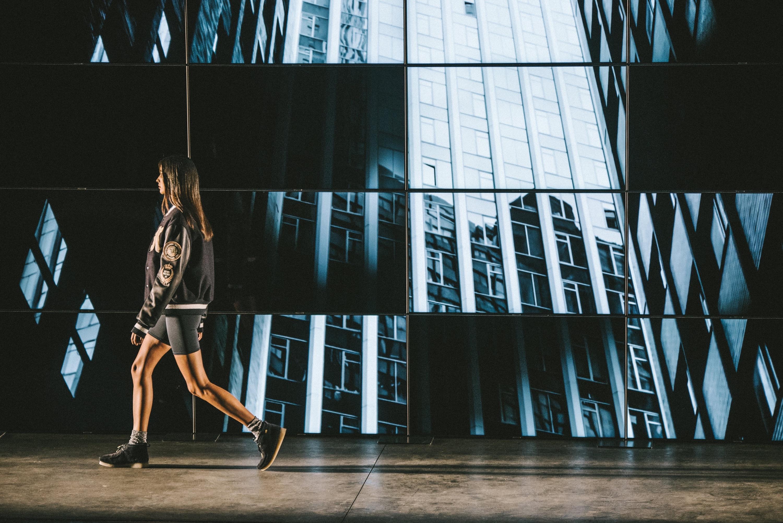 Girl walking in fashion show