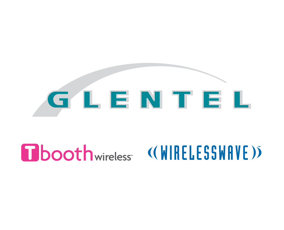 Tbooth Wireless and WirelessWave logos with Glentel logo