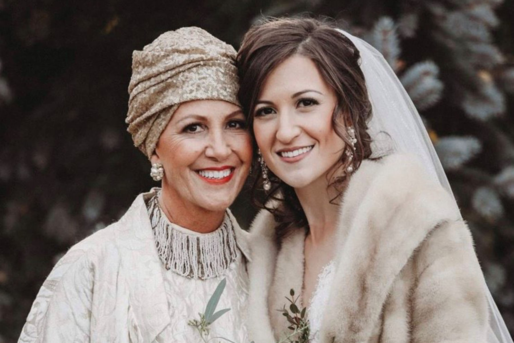 A photo of Tracey with her daughter on her wedding day