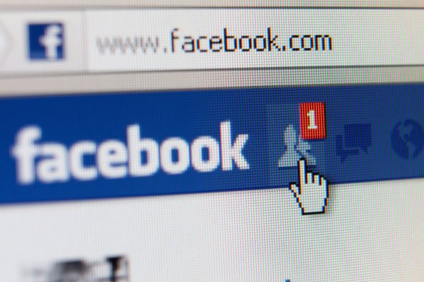 Image of Facebook on computer screen