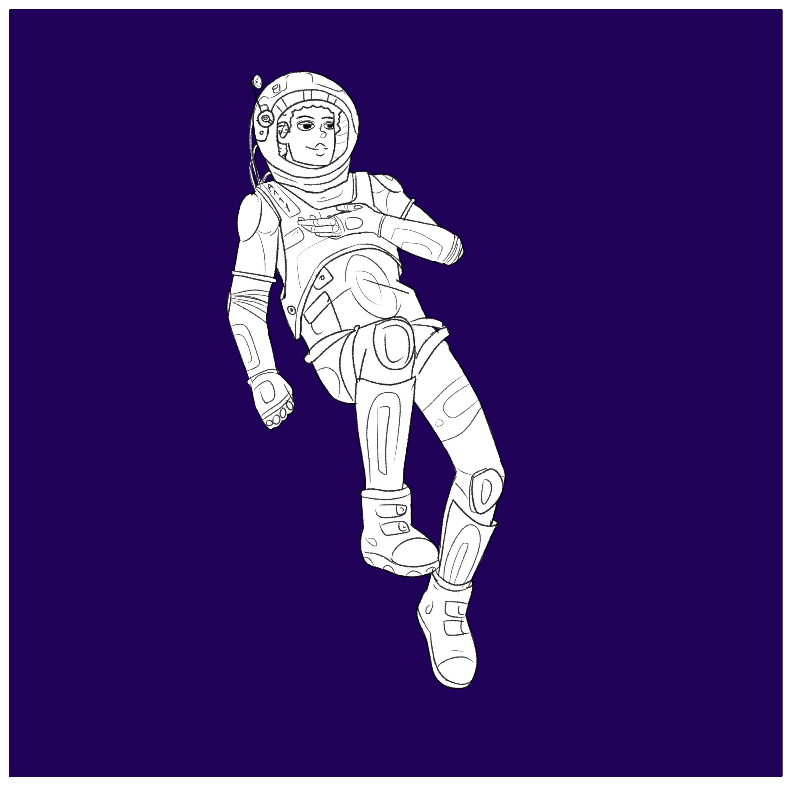 a deaf person space walking.