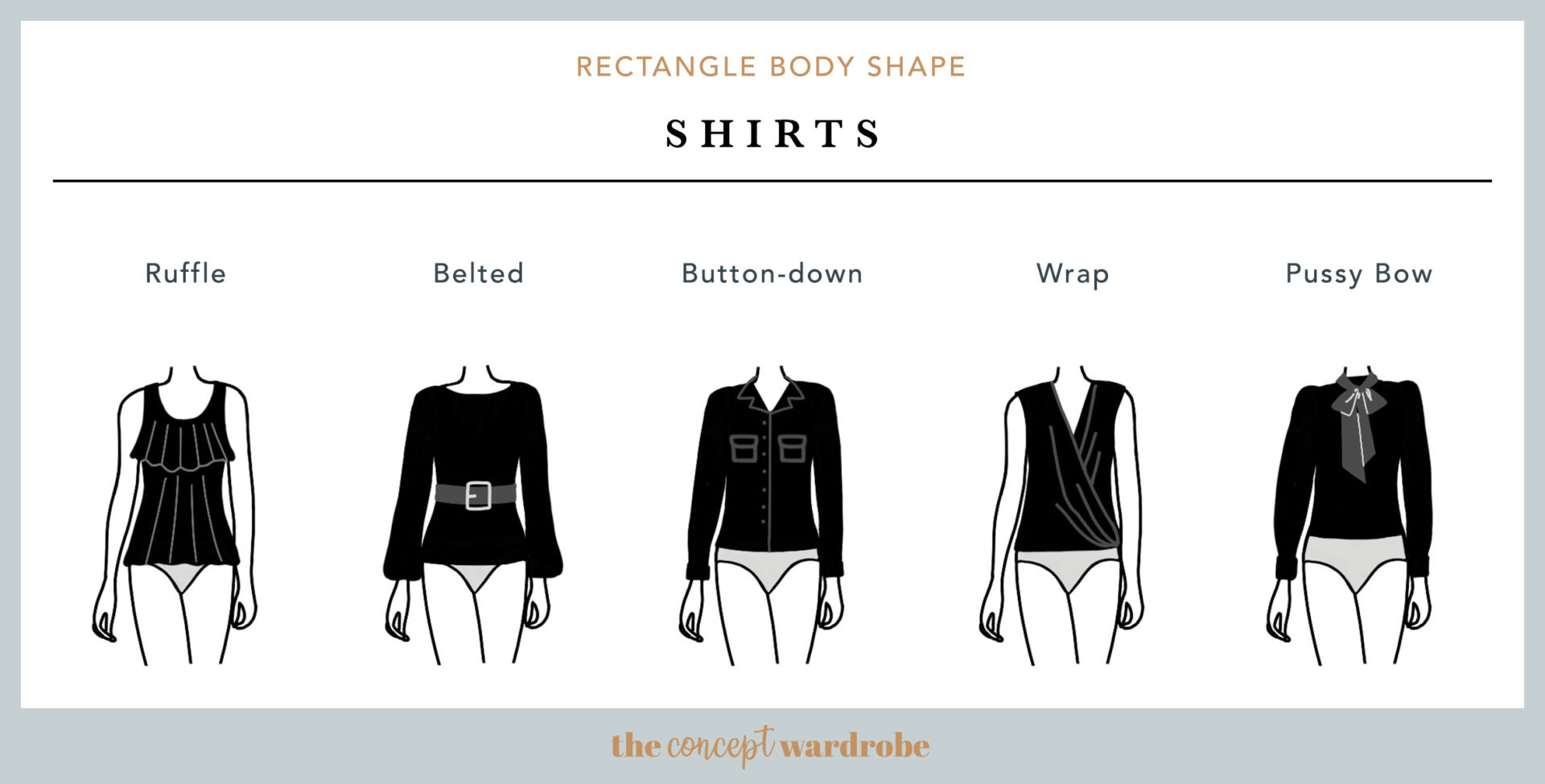 Rectangle Body Shape Shirts - the concept wardrobe