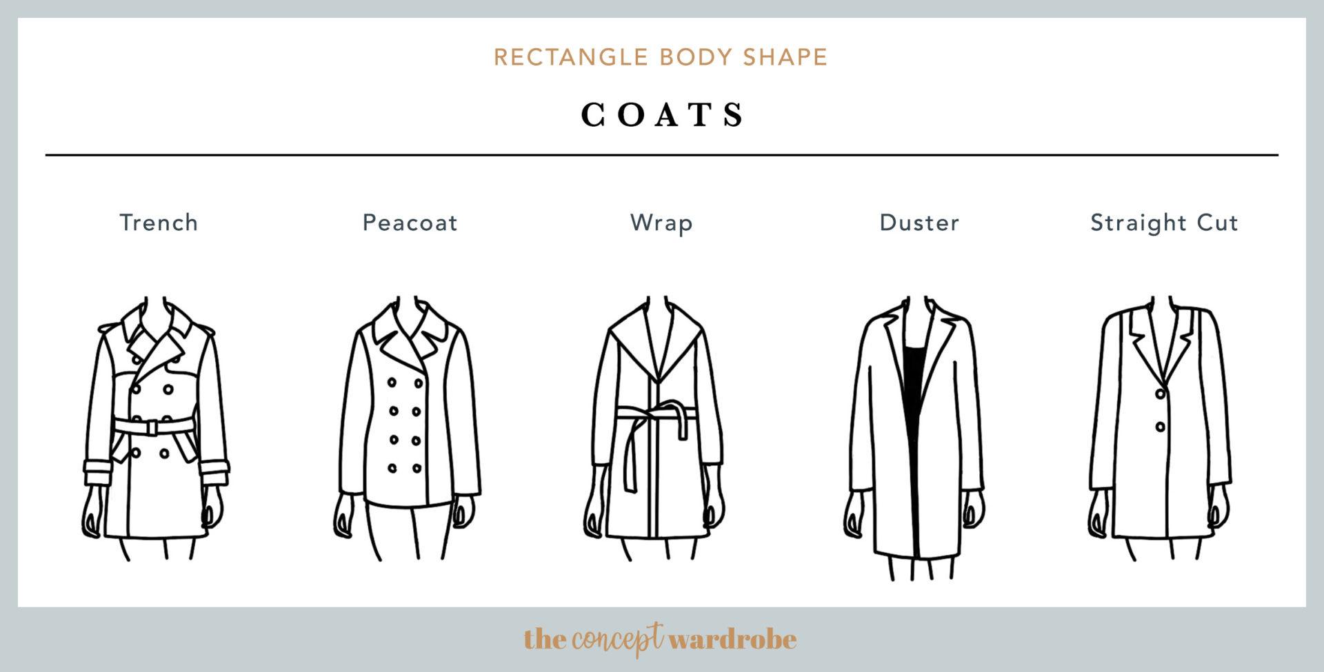 Rectangle Body Shape Coats - the concept wardrobe